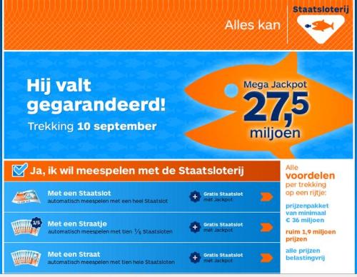"""""""De Staatsloterij is de grootste loterij van Nederland"""""""